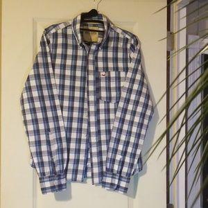 Men'slong sleeve button down dress shirt.